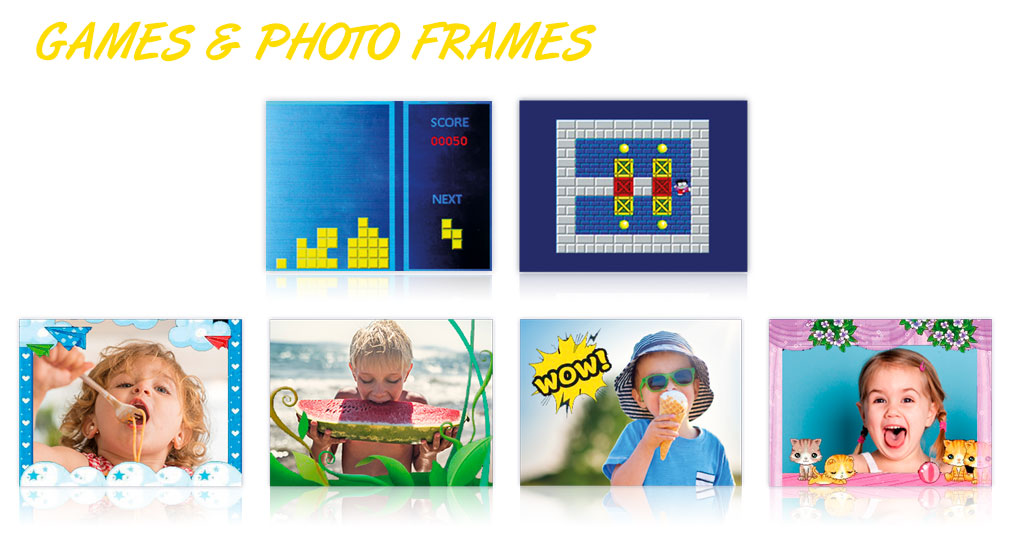 Kiddypix Robozz frames and games