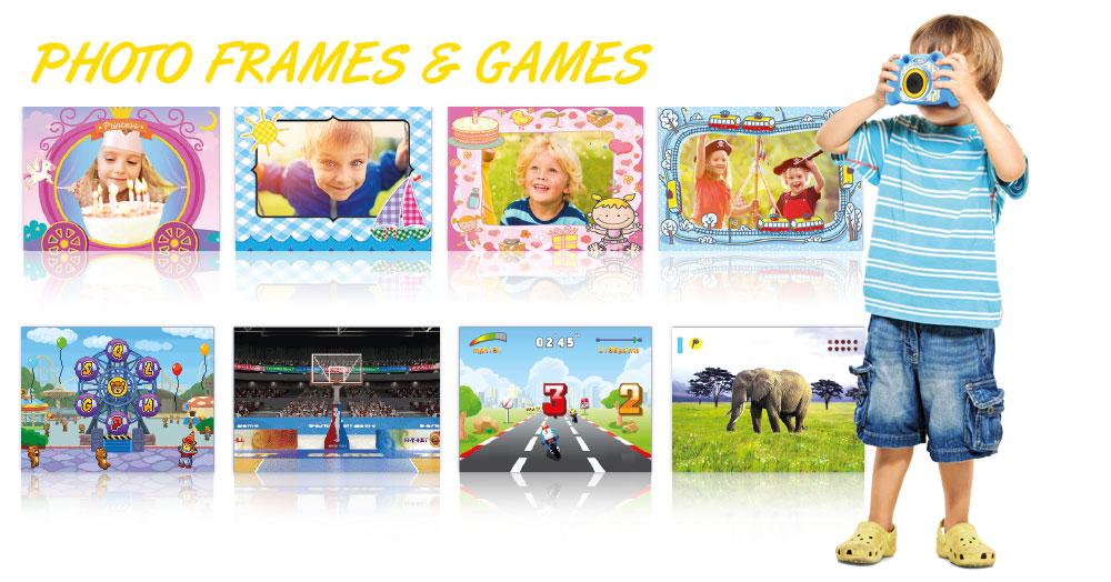 Kiddypix Blizz frames and games