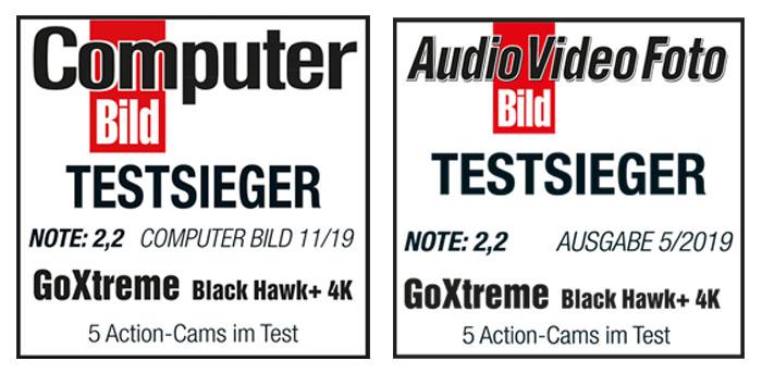 GoXtreme BlackHawk+ Testsieger